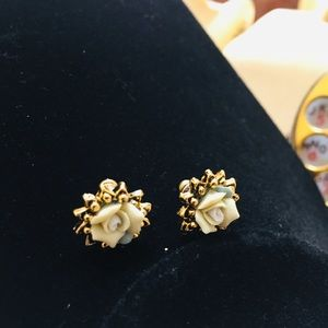 Vintage celluloid Floral Earrings